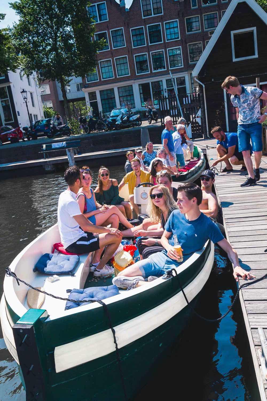 Boat rental Amsterdam canal